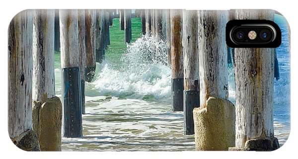 IPhone Case featuring the photograph Below The Pier by Brian Eberly