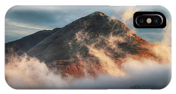 IPhone Case featuring the photograph Ben Lomond Misty Sunset by Grant Glendinning