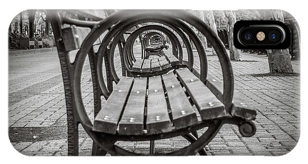 IPhone Case featuring the photograph Bench Circles by Steve Stanger