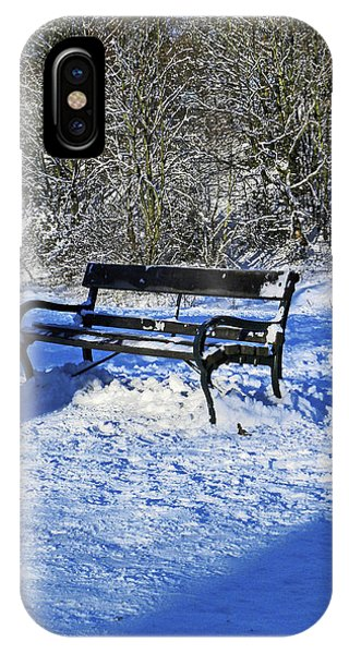 Bench In The Snow IPhone Case