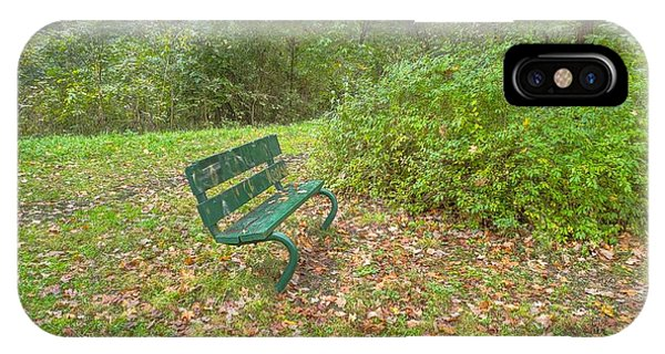 Bench Overlooking Pine Quarry IPhone Case