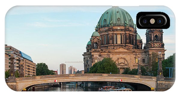 IPhone Case featuring the photograph Berliner Dom And River Spree In Berlin by Milan Ljubisavljevic