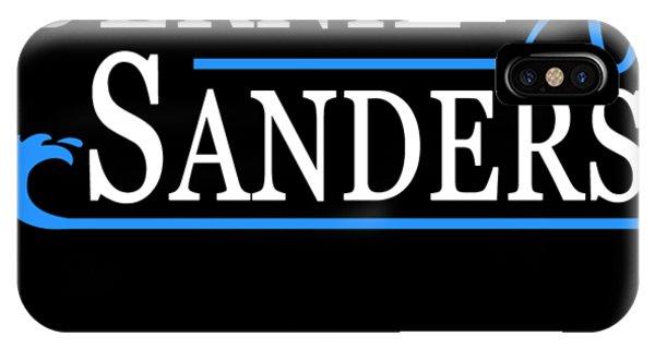 IPhone Case featuring the digital art Bernie Sanders Blue Wave 2020 by Flippin Sweet Gear