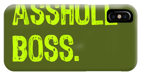 Men iPhone Case - Best Asshole Boss Ever Funny Boss's Day Gift T-shirt by Unique Tees