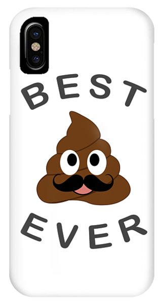 Toilet Humor iPhone Case - Best Pop Ever- Best Dad Ever- Fathers Day Greetings by Shawlin