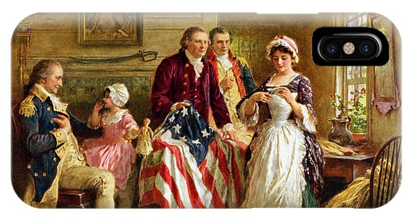 Military iPhone Case - Betsy Ross And General George Washington by War Is Hell Store
