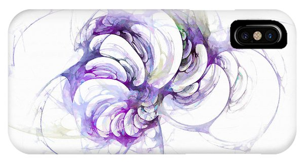 IPhone Case featuring the digital art Beyond Abstraction Purple by Don Northup