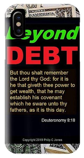 Debts iPhone Case - Beyond Debt by Philip Jones