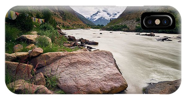 IPhone Case featuring the photograph Bhag River by Whitney Goodey