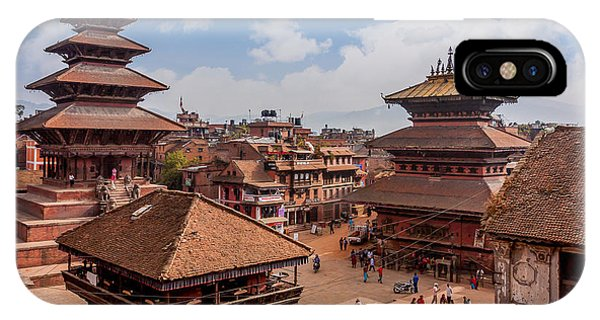 Past iPhone Case - Bhaktapur Is Unesco World Heritage Site by Hakat