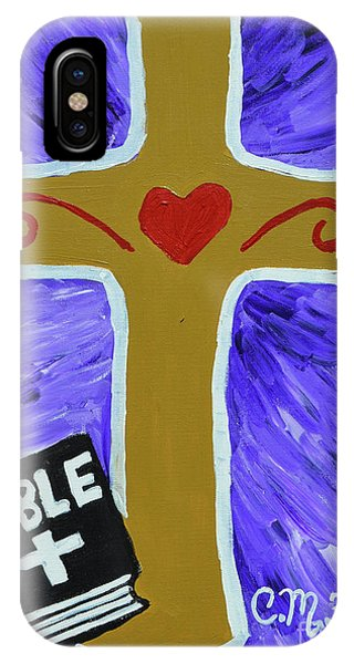 IPhone Case featuring the painting Bible Study by Christopher Farris