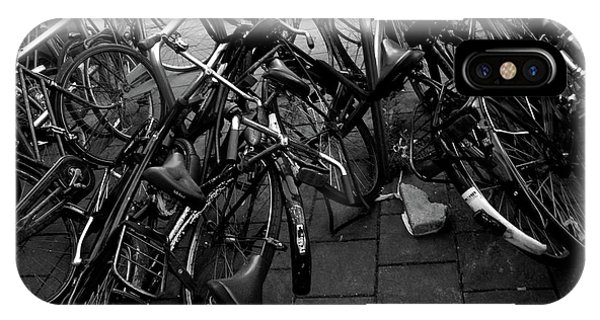 IPhone Case featuring the photograph Bicycles  by Edward Lee