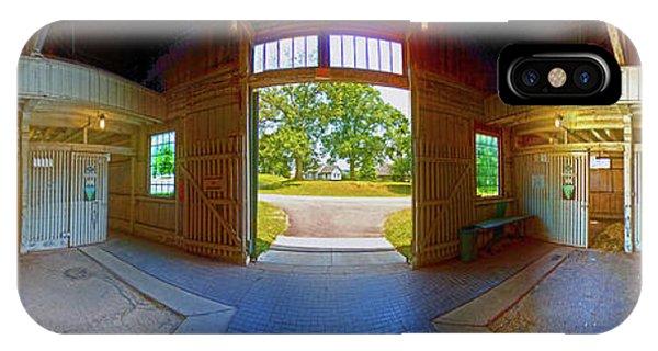 IPhone Case featuring the photograph Big Barn Kentucky Horse Park 360 by Tom Jelen