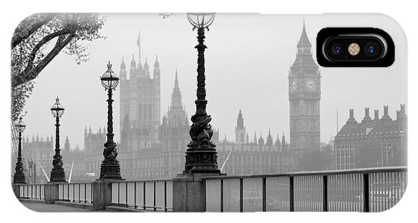 Big Ben & Houses Of Parliament, Black Phone Case by Tkemot