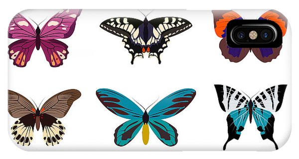 Violet iPhone Case - Big Collection Butterfly Of Colorful by Svstudio