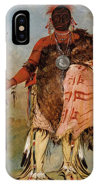 King Charles iPhone Case - Big Elk, A Famous Warrior by Charles Bird King