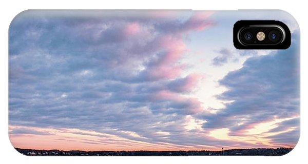 Big Sky Over Portsmouth Light. IPhone Case
