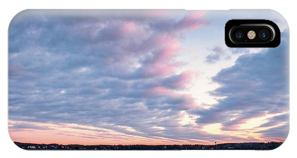 Big Sky Over Portsmouth Light. IPhone Case
