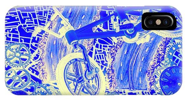 Commute iPhone Case - Biking Blue by Jorgo Photography - Wall Art Gallery