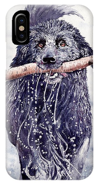 Small Dog iPhone Case - Bill Out Of The Blue by Suzann Sines