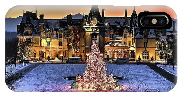 Biltmore Christmas Night All Covered In Snow IPhone Case