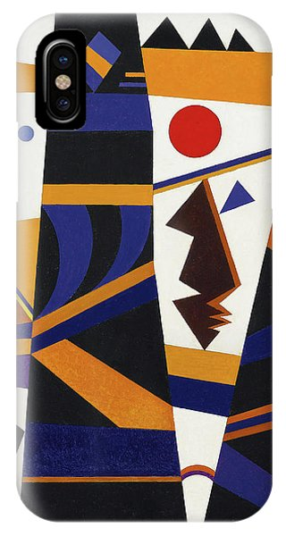 Visual Illusion iPhone Case - Binding by Wassily Kandinsky