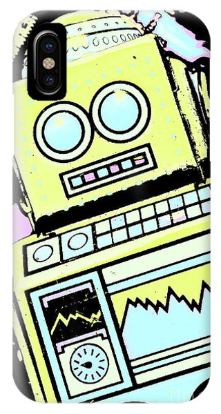 Technology iPhone Case - Bionic Comic Bot  by Jorgo Photography - Wall Art Gallery
