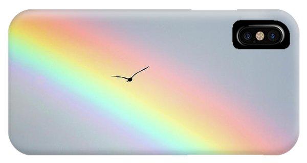 In Flight iPhone Case - Bird Bow by Sean Davey