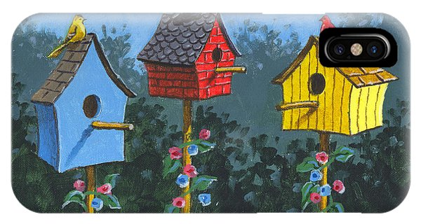Bird House Lane Sketch IPhone Case