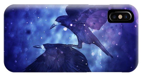 Purple Rain iPhone Case - Bird Kingdom  3 by Johan Lilja