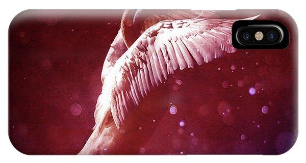Dark Violet iPhone Case - Bird Kingdom 7 Bloodline by Johan Lilja
