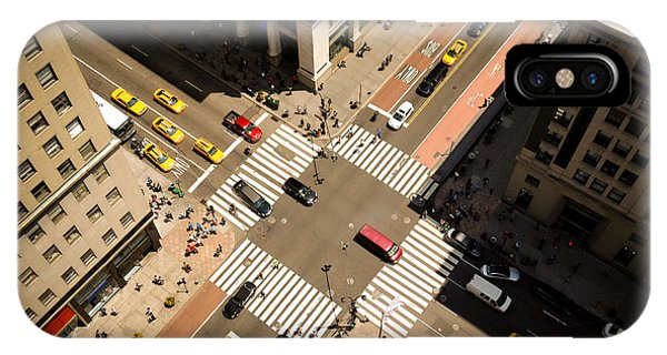 Birds Eye View Of Manhattan, Looking Phone Case by Heather Shimmin