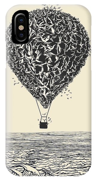 Birds Flock In Balloon Formation Flying Phone Case by Ryger