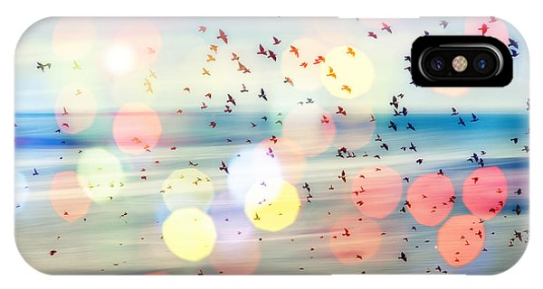 Flight iPhone Case - Birds Flying And Abstract Sky ,spring by Babaroga