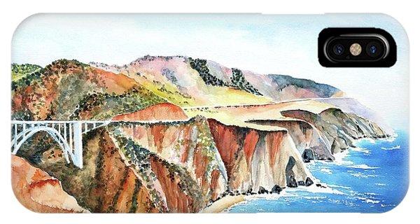 Bixby Bridge 3 Big Sur California Coast IPhone Case