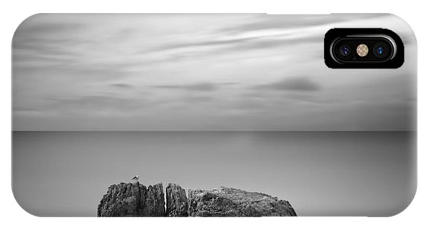 Long Exposure iPhone Case - Black & White Rocky Seascape Scene With by Yury Bird