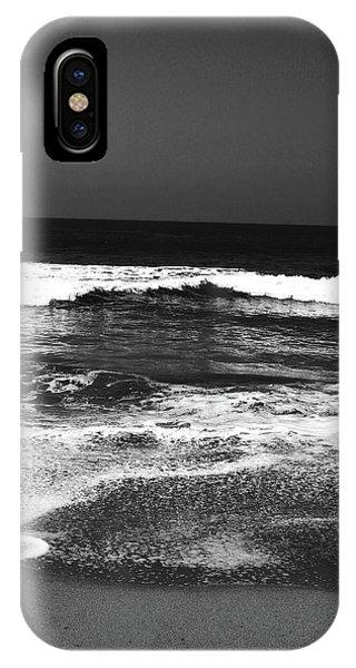 Coast iPhone Case - Black And White Beach 7- Art By Linda Woods by Linda Woods