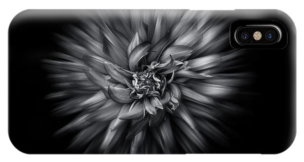 Black And White Flower Flow No 5 IPhone Case