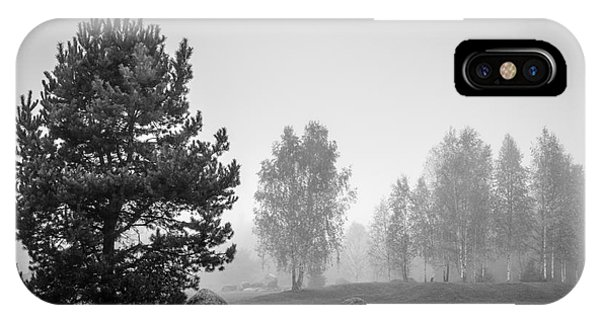 Boulder iPhone Case - Black And White Landscape With Stones by Sinelev