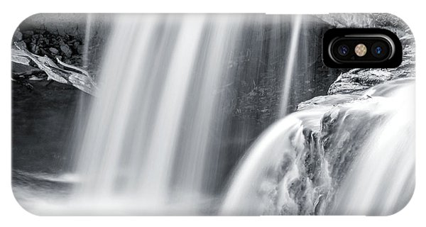 IPhone Case featuring the photograph Black And White Ludlow Falls by Dan Sproul
