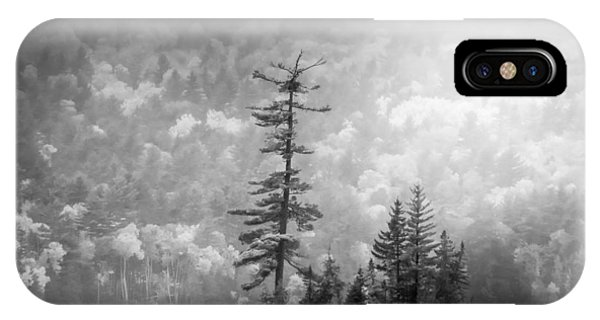 IPhone Case featuring the photograph Black And White Moody Morning Moosehead Lake by Dan Sproul
