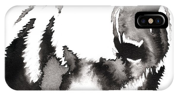 Form iPhone Case - Black And White Painting With Water And by Evgeny Turaev