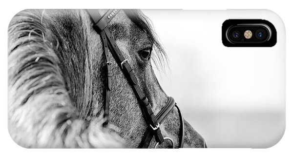 Purebred iPhone Case - Black-and-white Portrait Of A Sports by Elya Vatel