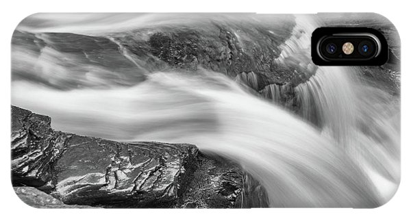 Black And White Rushing Water IPhone Case