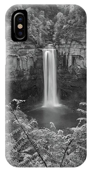IPhone Case featuring the photograph Black And White Taughannock Falls by Dan Sproul