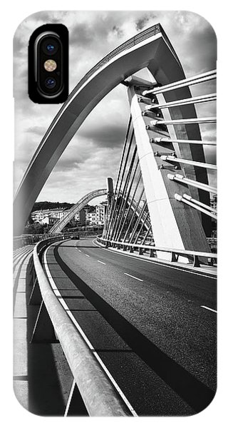 Black And White Version Of The Millennium Bridge IPhone Case