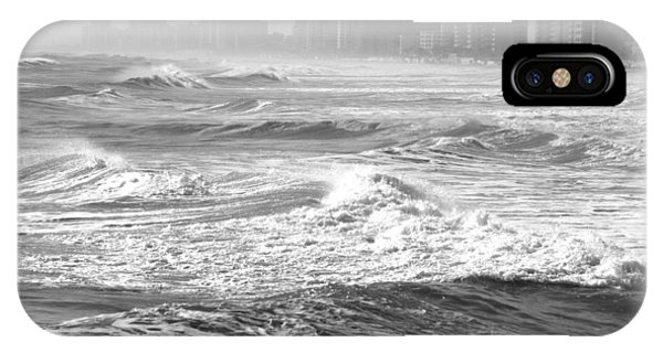 Black And White Waves IPhone Case