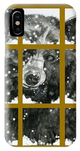 Black Bear, Outside My Window IPhone Case