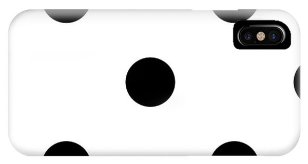 Black Dots On A White Background- Ddh610 IPhone Case