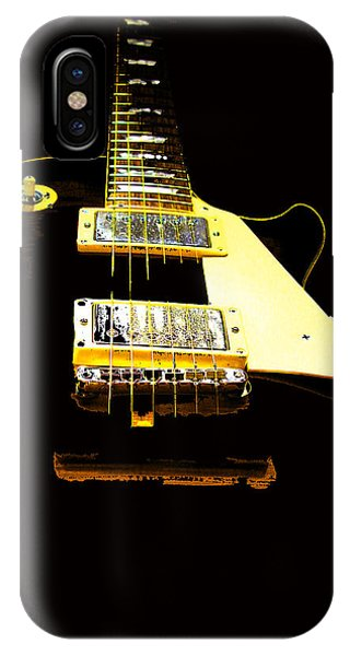 Black Guitar With Gold Accents IPhone Case